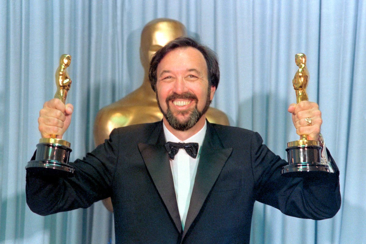 Best Director James Brooks Posing at Academy Awards